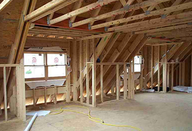 Inside dormer framing